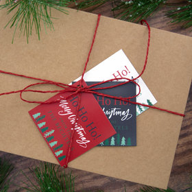 Personalized Ho Ho Ho Merry Xmas Gift Tags (24 Pack)