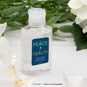Personalized Hand Sanitizer 2 fl. oz bottle - Peace and Health in the New Year