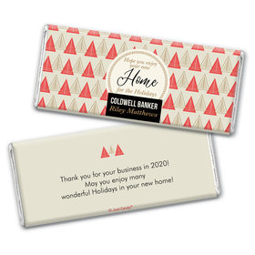 Personalized Christmas Home for the Holidays Chocolate Bar & Wrapper