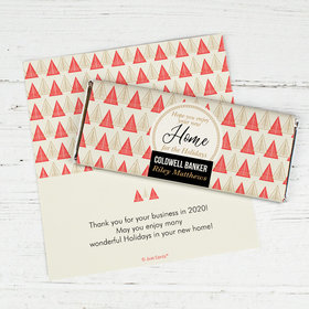 Personalized Christmas Home for the Holidays Chocolate Bar Wrappers