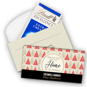 Deluxe Personalized Christmas Home for the Holidays Lindt Chocolate Bar in Gift Box (3.5oz)