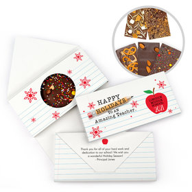 Personalized Christmas To an Amazing Teacher Gourmet Infused Belgian Chocolate Bars (3.5oz)