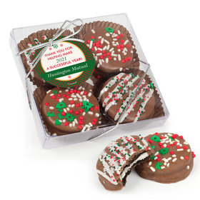 Personalized Christmas Ugly Sweater Gourmet Belgian Chocolate Covered Oreos 4pc Gift Box