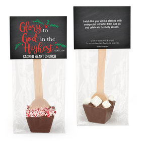 Personalized Glory to God Hot Chocolate Spoon