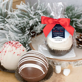 Personalized Christmas Hot Chocolate Bomb - Oh Come Let Us Adore Him