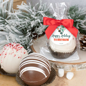 Personalized Christmas Hot Chocolate Bomb - Stars and Snowflakes