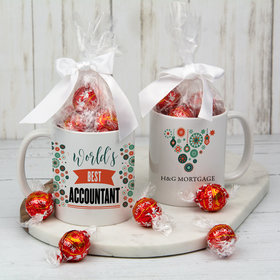 Personalized World's Best 11oz Mug with Lindor Truffles by Lindt