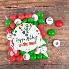 Personalized Christmas Stars Snowflakes Candy Bag with JC Chocolate Minis