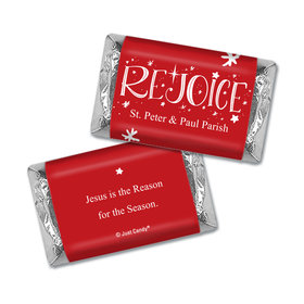 Personalized Christmas Rejoice Hershey's Miniatures
