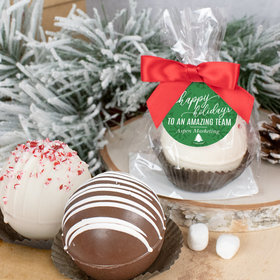 Personalized Christmas Hot Chocolate Bomb - Festive Snowflakes
