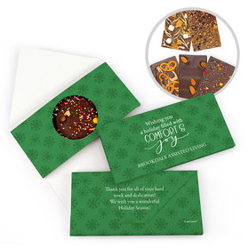 Personalized Christmas Comfort and Joy Gourmet Infused Belgian Chocolate Bars (3.5oz)