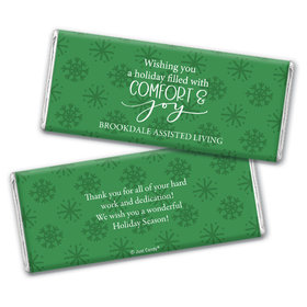 Personalized Comfort and Joy Chocolate Bar & Wrapper
