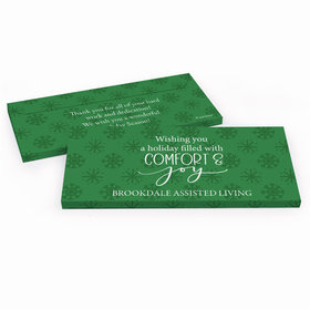 Deluxe Personalized Christmas Comfort and Joy Candy Bar Cover
