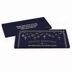 Deluxe Personalized Christmas Deco in Blue and Gold Candy Bar Cover