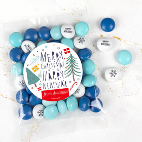 Personalized Nordic Christmas Candy Bag with JC Chocolate Minis