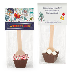 Personalized Warm Holiday Wishes Hot Chocolate Spoon