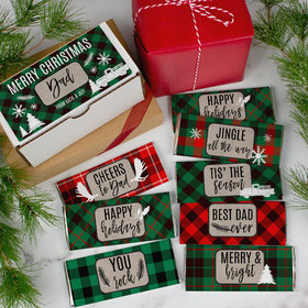 Personalized Dad's Plaid Hershey's Chocolate Bars Gift Box (8 Pack)