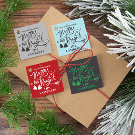 Personalized May Your Days be Merry Gift Tags (24 Pack)