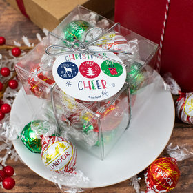 Christmas Cheer Lindor Truffles by Lindt Cube Gift