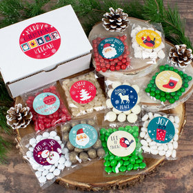 Personalized Christmas Care Package Candy Gift Box - Merry Modern Christmas