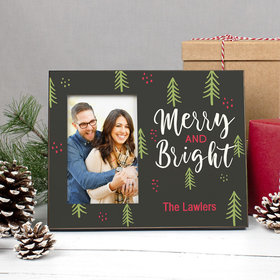 Personalized Christmas Merry and Bright Picture Frame