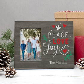 Personalized Christmas Peace Love Joy Picture Frame