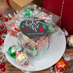 Personalized Christmas Ho Ho Ho Lindor Truffles by Lindt Cube Gift
