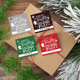 Personalized Naughty Nice Gift Tags (24 Pack)