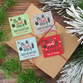 Personalized Oh What Fun Gift Tags (24 Pack)