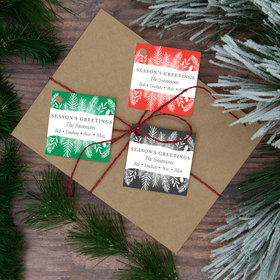 Personalized Seasons Greetings Gift Tags (24 Pack)