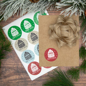 Personalized Warm Holiday Wishes Labels (72 Pack)