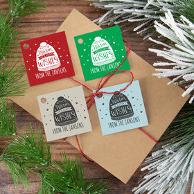 Personalized Warm Holiday Wishes Gift Tags (24 Pack)