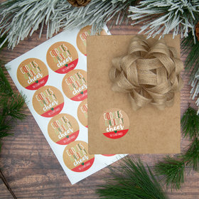 Personalized Cookies & Holiday Cheer Labels (72 Pack)