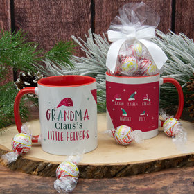 Personalized Grandma Claus's 5 Little Helpers 11oz Mug with Lindt Truffles