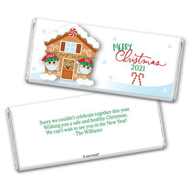 Personalized Christmas Quarantine Couple Chocolate Bar & Wrapper