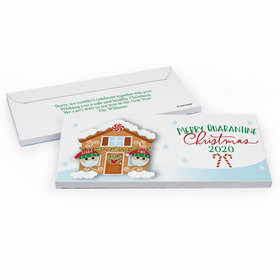 Deluxe Personalized Christmas Quarantine Couple Chocolate Bar in Gift Box