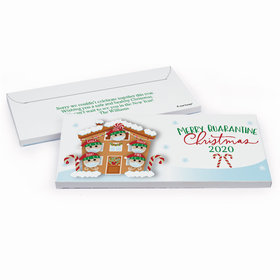 Deluxe Personalized Christmas Quarantine Family of 5 Candy Bar Cover