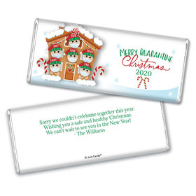 Personalized Christmas Quarantine Family of 6 Chocolate Bar Wrappers Only