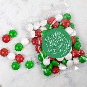 Personalized Christmas Tis the Season Candy Bags with Just Candy Milk Chocolate Minis