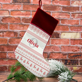 Personalized Stocking Ugly Sweater Name