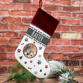 Personalized Stocking Dog Photo