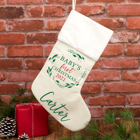 Personalized Stocking Babies First Xmas