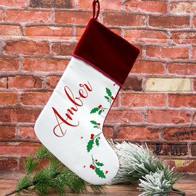 Personalized Stocking Holly