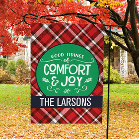 Personalized Christmas Garden Flag - Comfort and Joy