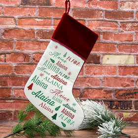 Personalized Stocking Repeating Name