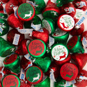 Christmas Reindeer Merry Christmas Hershey's Kisses Candy