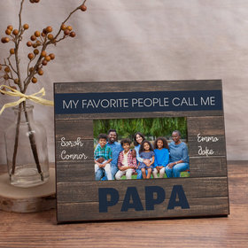 Personalized My Favorite People Call Me Papa (4) Picture Frame