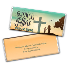 Personalized Father's Day God Bless Fathers Chocolate Bar & Wrapper