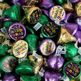 Let's Party Mardi Gras Hershey's Kisses Candy
