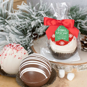 Personalized New Years Hot Chocolate Bomb - Snowflakes